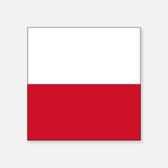 """Flag: Poland Square Sticker 3"""" x 3"""""""