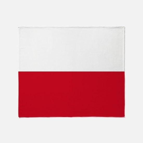 Flag: Poland Throw Blanket