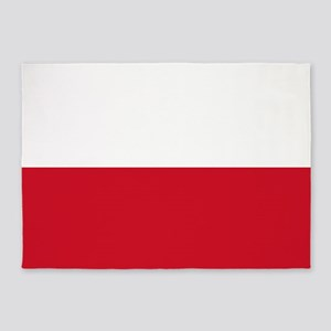 Flag: Poland 5'x7'Area Rug