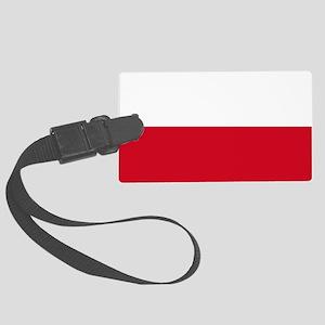Flag: Poland Large Luggage Tag