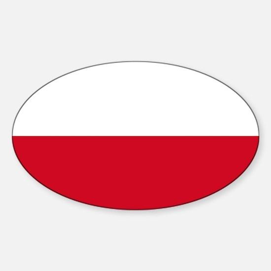 Flag: Poland Sticker (Oval)