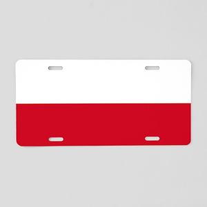 Flag: Poland Aluminum License Plate