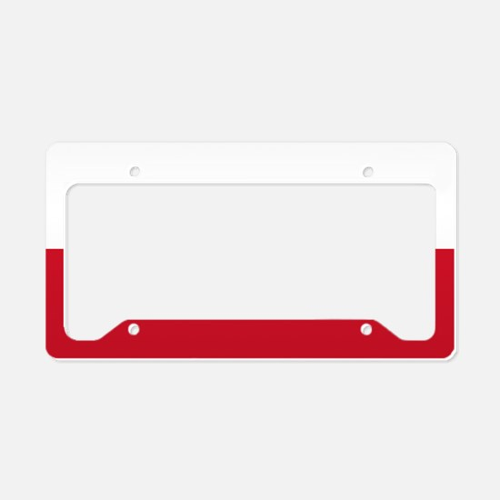 Flag: Poland License Plate Holder