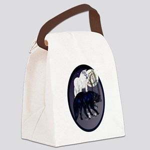 Two Wolves Canvas Lunch Bag