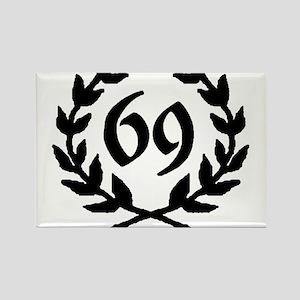 69 Laurel Rectangle Magnet