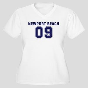 NEWPORT BEACH 09 Women's Plus Size V-Neck T-Shirt