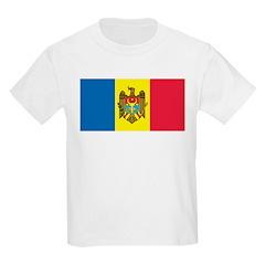 Moldova Flag Kids T-Shirt