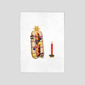 Christmas Hotdog 5'x7'Area Rug