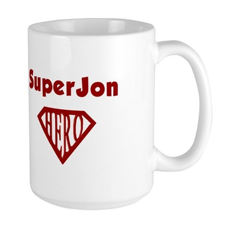Super Hero Jon Large Mug