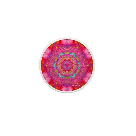 Pink Crystal Mandala Mini Button (100 pack)
