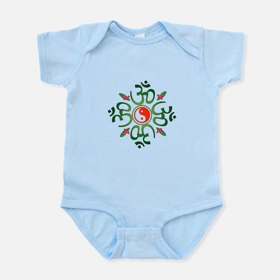 Zen Christmas Wreath Infant Bodysuit