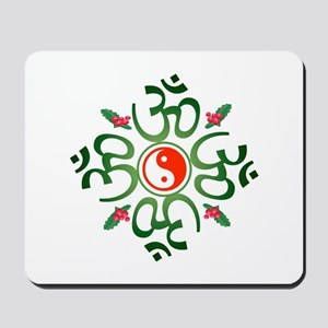 Zen Christmas Wreath Mousepad