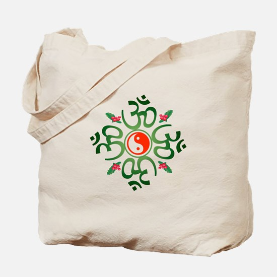 Zen Christmas Wreath Tote Bag