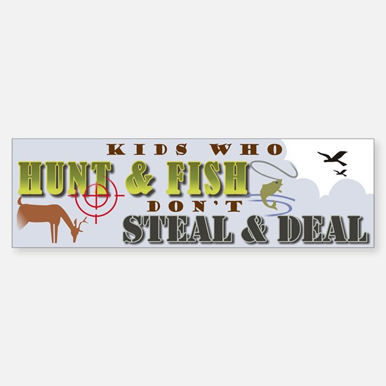 Kids Who Hunt... Bumper Car Car Sticker