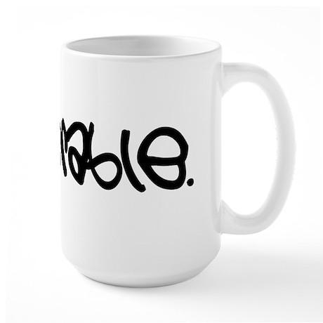 miserable large mug: