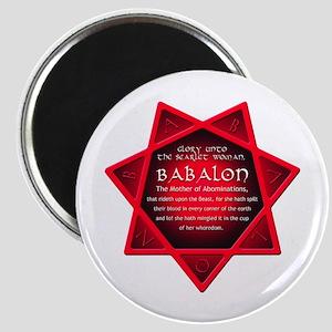 Star of Babalon Magnet