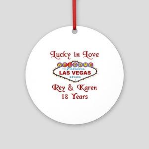 Rey & Karen Ornament (Round)