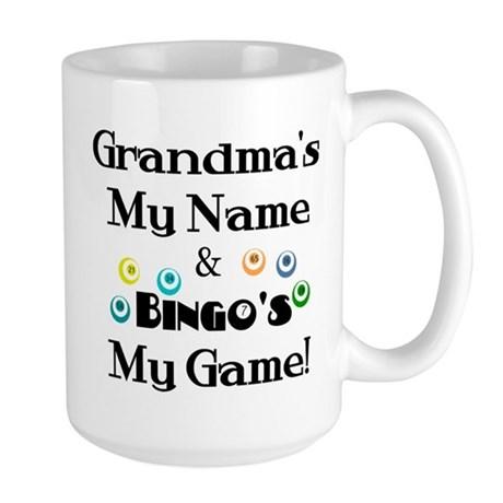 Grandma and Bingo Large Mug