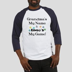 Grandma and Bingo Baseball Jersey