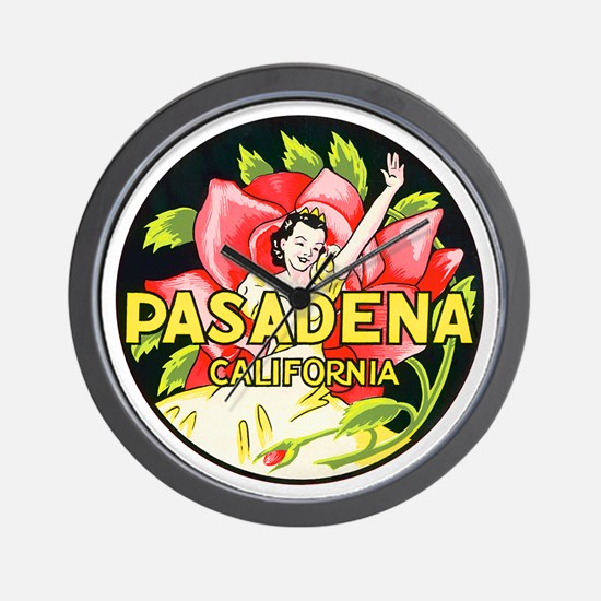 Pasadena California Wall Clock