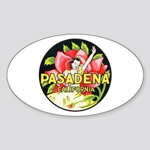 Pasadena California Oval Sticker