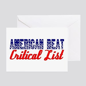 AMERICAN BEAT Critical L Greeting Cards (Pk of 10)