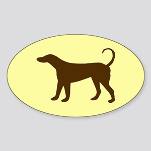 Tan/Brown Dog Lover Oval Sticker