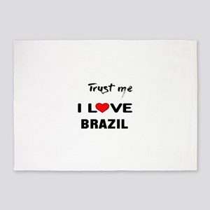 Trust me I Love Brazil 5'x7'Area Rug