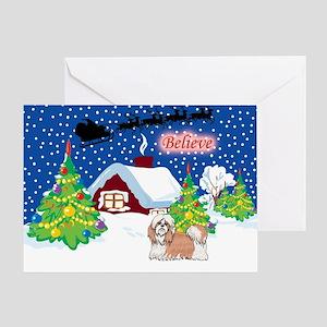 Believe Shih Tzu Greeting Card