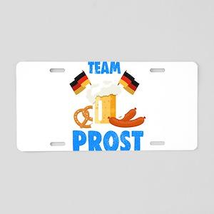 Oktoberfest Prost Sausage Aluminum License Plate