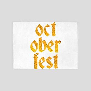 Oktoberfest Prost Sausage Beer Dri 5'x7'Area Rug