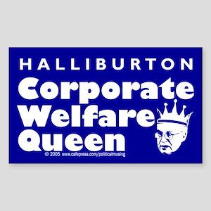 Corporate Welfare Queen. Rectangle Sticker