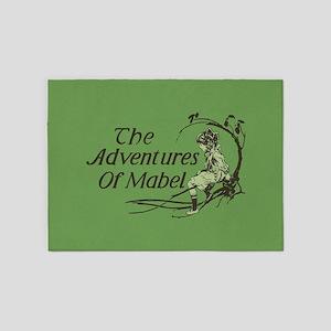 Vintage Adventures Of Mabel 5'x7'Area Rug