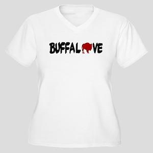 Buffalove Women's Plus Size V-Neck T-Shirt