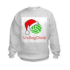 VolleyChick Logo Holiday Kids Sweatshirt
