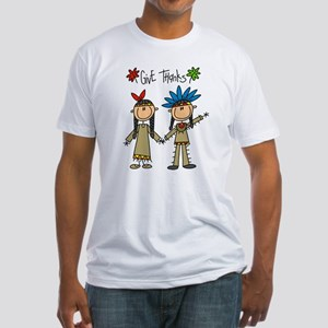 Native American Thanksgiving Fitted T-Shirt