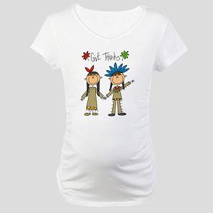 Native American Thanksgiving Maternity T-Shirt