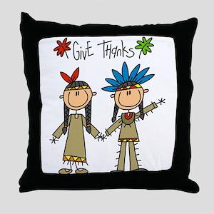 Native American Thanksgiving Throw Pillow