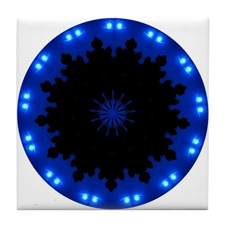 Winter Moon Tile Coaster