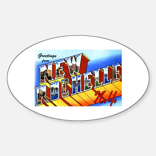 New Rochelle New York Oval Decal