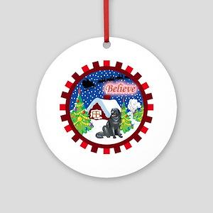 Believe Newfoundland Ornament (Round)