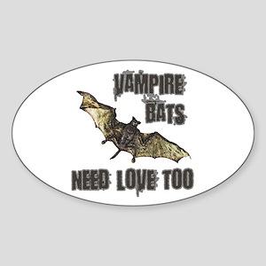 Vampire Bat Oval Sticker