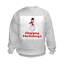 VolleyChick Snowman Happy Holidays Kids Sweatshirt