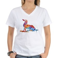 Dachshund Fun Women's V-Neck T-Shirt