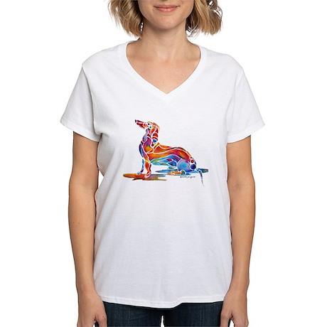 Dachshund Fun Women's V-Neck T-Shirt