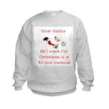 VolleyChick Dear Santa ONE side Kids Sweatshirt