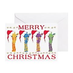 Giraffe Theme Holiday Cards (Pk of 10)