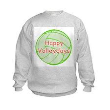 VolleyChick Happy Volleydays Ball Kids Sweatshirt