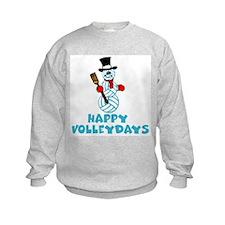 VolleyChick Happy Volleydays Snowman Kids Sweatshi