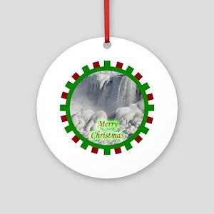 Niagara Falls Christmas Ornament (Round)